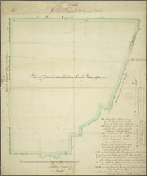 Plan of ground upon which stand Leicester House, offices &c.